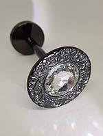 Подхват для штор с крупным камнем REC116 черный никель, фото 1