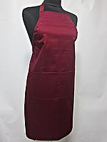 Фартук Atteks с нагрудником поварской / для официанта, бармена длинный бордовый - 00203
