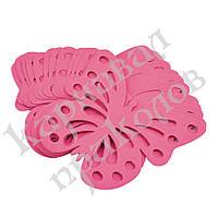 Декор бумажный Бабочки (уп. 24шт) малиновый, фото 1