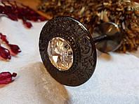 Классический Подхват для штор с  камнем REC116 чрный никель, фото 1