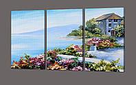 Модульная картина Цветы и Море, фото 2