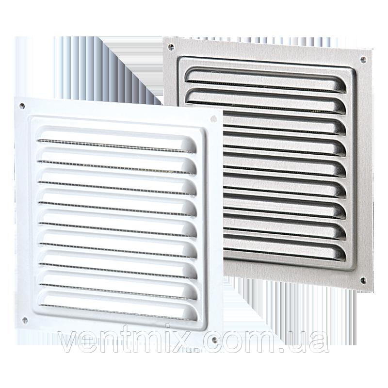 Вентиляционная решетка металлическая (белая) однорядная серия МВМ 125