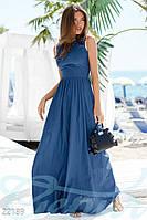 Длинное льняное платье в пол
