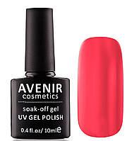 Гель-лак AVENIR Cosmetics №104 Неоновый оранжево-розовый