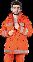 Куртка K-ORANGE P утепленная сигнальная рабочая оранжевая Reis Польша (спецодежда зимняя)