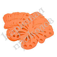 Декор бумажный Бабочки (уп. 24шт) оранжевый, фото 1
