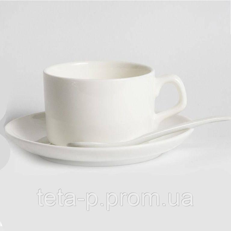 Чашка с блюдечком и ложкой для кофе под сублимацию