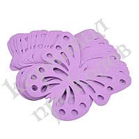 Декор бумажный Бабочки (уп. 24шт) лиловый, фото 1