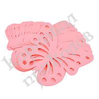 Декор бумажный Бабочки (уп. 24шт) розовый, фото 1