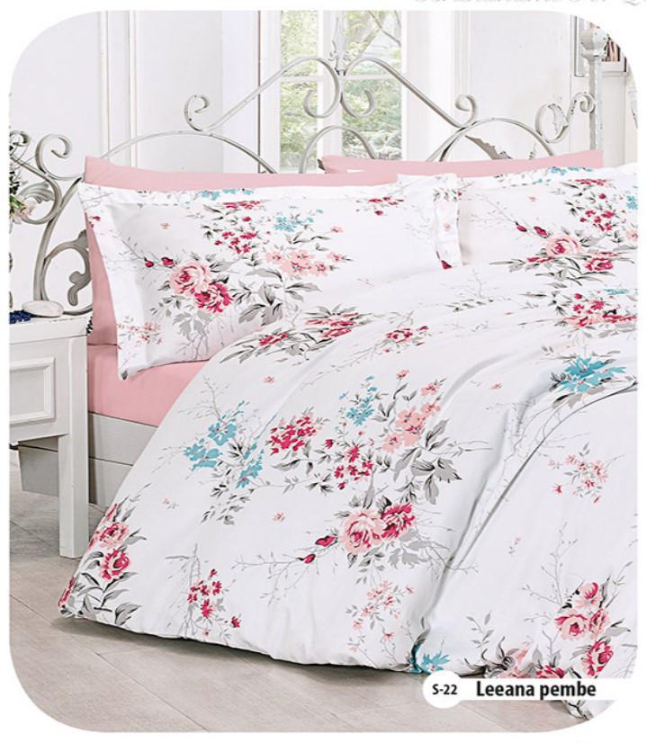 Полуторное постельное белье  First Choice Leeana pembe