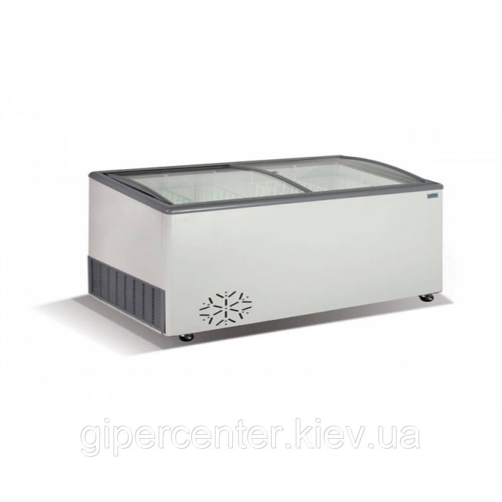 Морозильный ларь гнутое стекло Crystal VENUS SGL 36 (4 корзины)