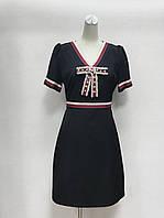 Платье Gucci с бантиком черное, фото 1