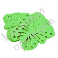 Декор бумажный Бабочки (уп. 24шт) салатовый, фото 1