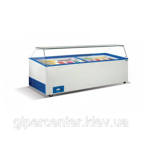 Морозильные лари для мягкого мороженного Crystal VENUS VITRINE 56 (гнутое стекло), фото 2