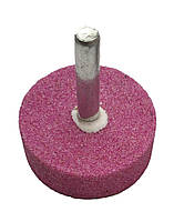 Шарошка шлифовальная цилиндрическая 38х13х6 мм. розовый корунд, фото 1