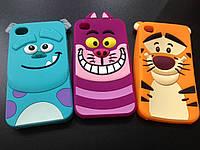 Силиконовый чехол для Iphone 4 и 4S Зверюшки, фото 1