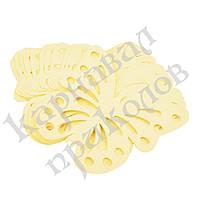 Декор бумажный Бабочки (уп. 24шт) шампань, фото 1