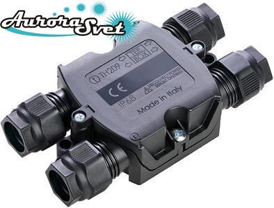 Герметичная распределительная коробка на 4 выхода для 4х контактного кабеля THB.209.A4А