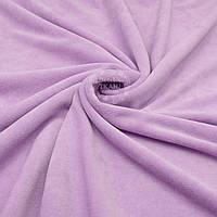 Однотонный ХБ велюр светло-лилового цвета