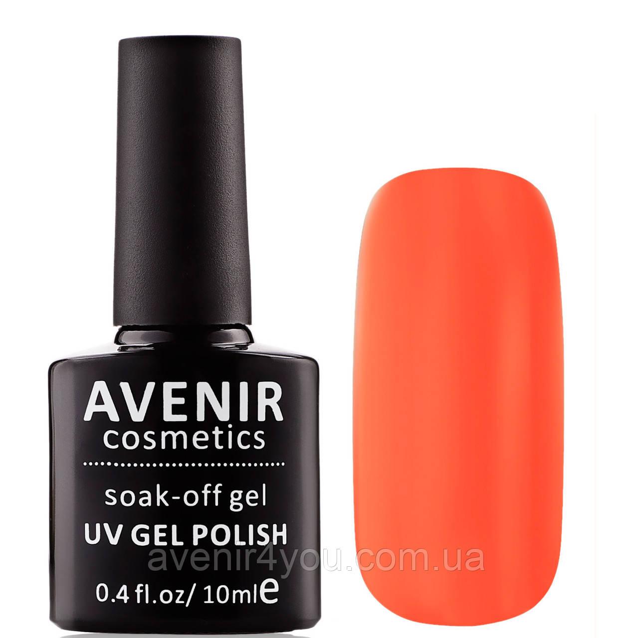 Гель-лак AVENIR Cosmetics №55. Оранжево-красный электрик