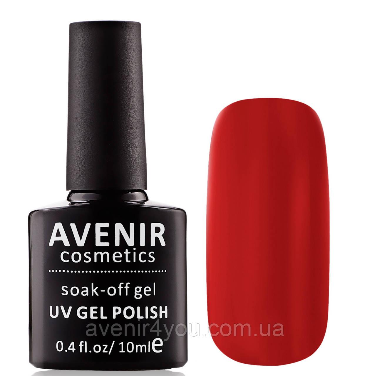 Гель-лак AVENIR Cosmetics №63. Открытый красный (true red)