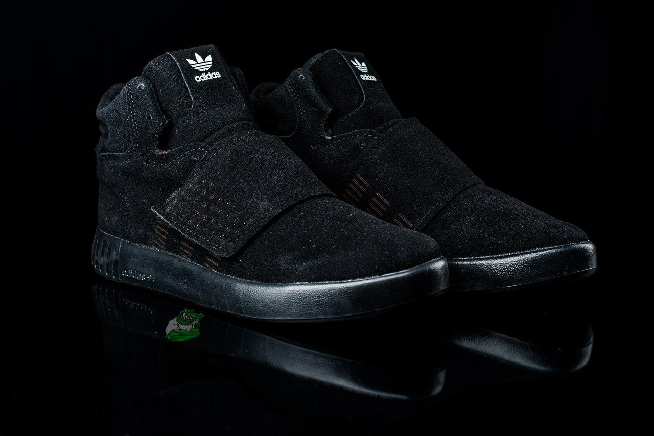 Мужские летние Кроссовки Adidas Tubular black (адидас c507b588b81ed