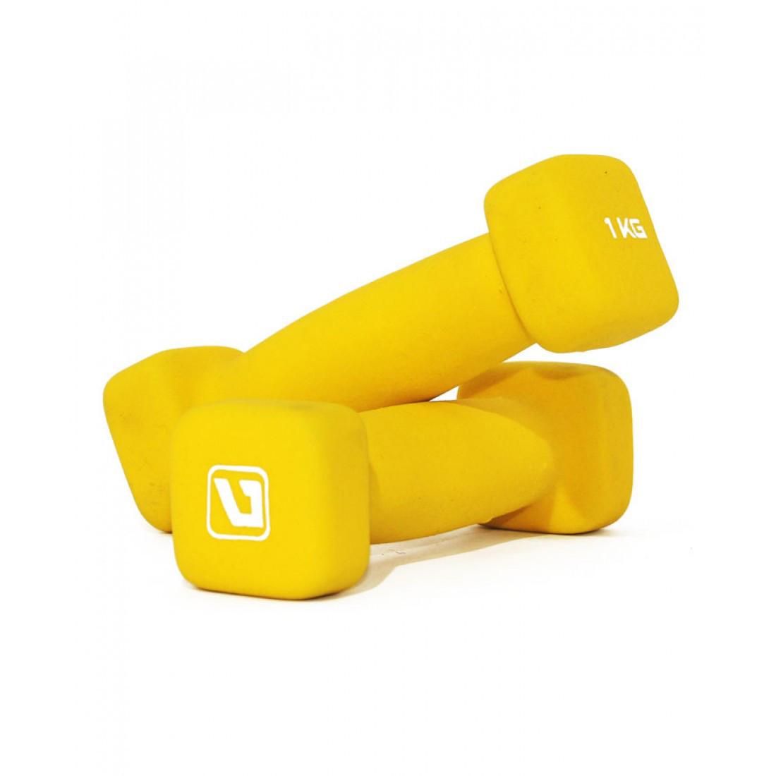 Гантели неопреновые  LiveUp SQUARE HEAD (2 шт х  1 кг)