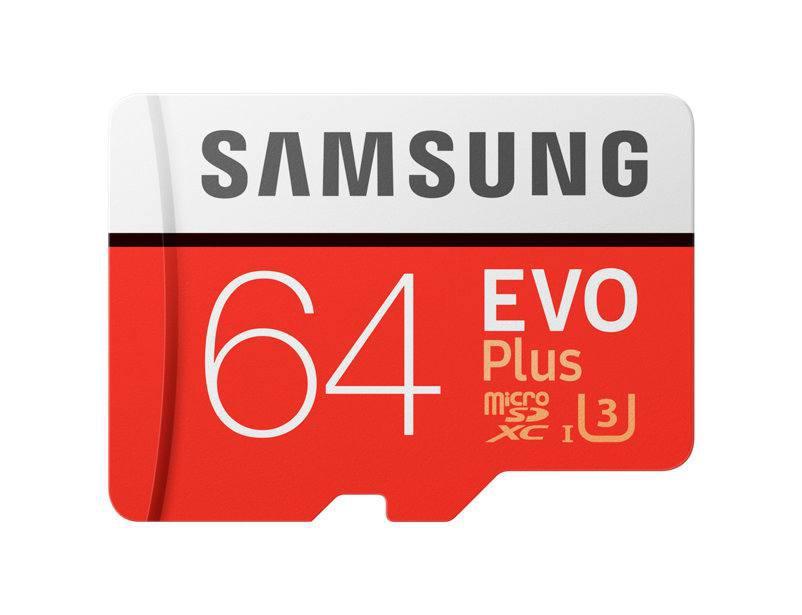 Карта памяти Samsung 64GB microSDXC C10 UHS-I U3 R100/W60MB/s  Evo Plu