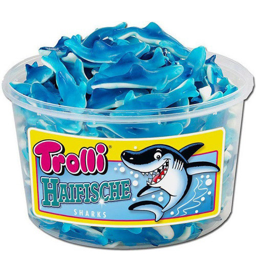 Тролли Акула / Trolli Haifische (6 штук в ящике )
