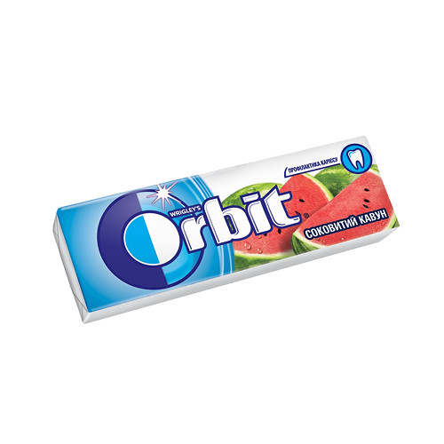 Орбит / Orbit жевательная резинка  АРБУЗ 14гр/30шт
