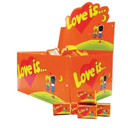 Лав из/Love is... апельсин и ананас жевательная резинка (KENT) 4,5 г/100шт/20 в ящ