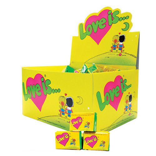 Лав из/Love is...ананас-кокос жевательная резинка (KENT) 4,5 г/100шт/20 в ящ