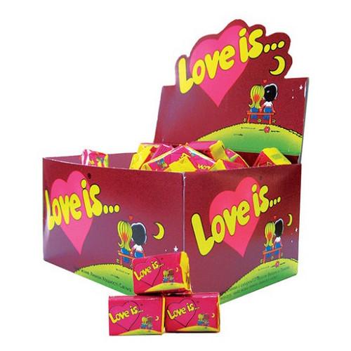 Лав із/Love is... вишня-лимон жувальна гумка (KENT) 4,5 г/100шт/20 в ящ