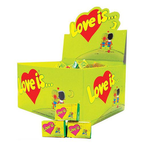 Лав из/ Love is... яблоко- лимон жевательная резинка (KENT) 4,5 г/100шт/20 в ящ
