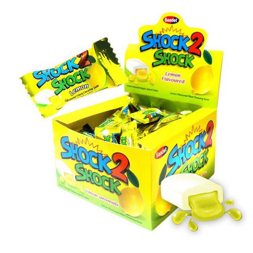 ШОК 2 лимон жевательная резинка  (SAADET) 4 г/100 шт/ 20 в ящ