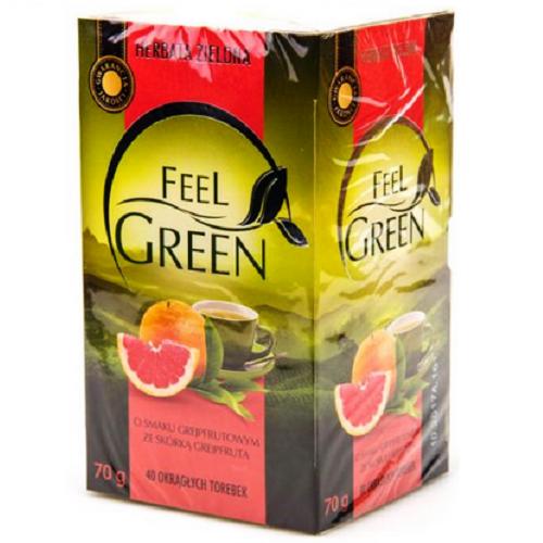Чай  Feel Green ГРЕЙПФРУТ 40 пакетиков