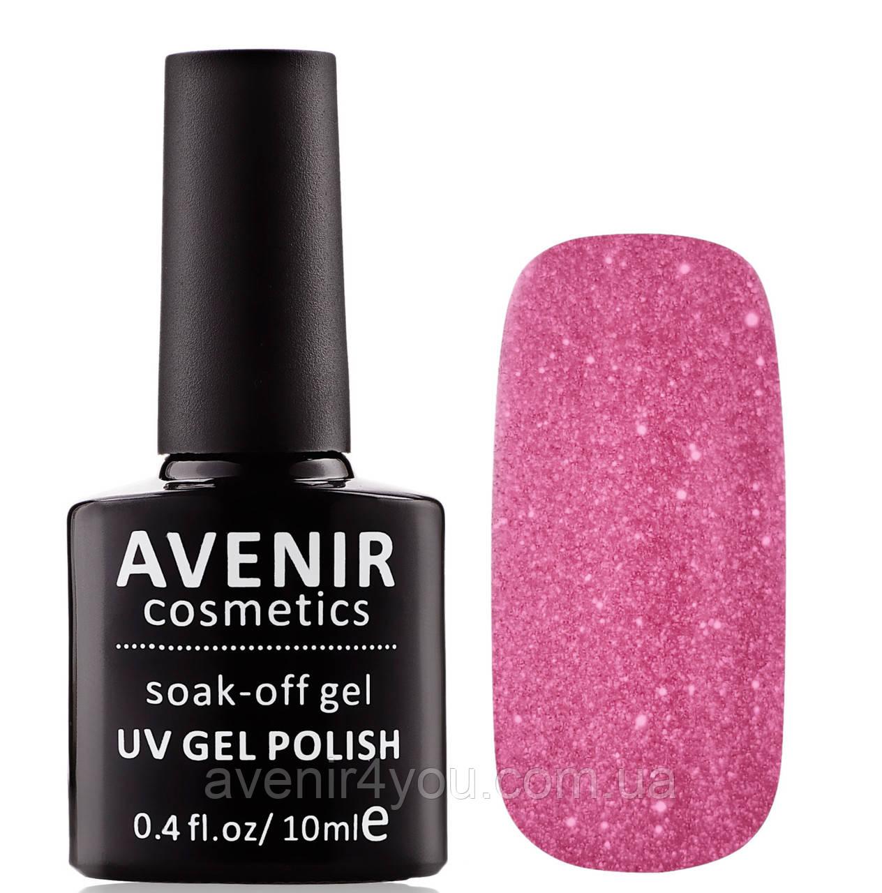 Гель-лак AVENIR Cosmetics №162. Сиреневые кристаллы