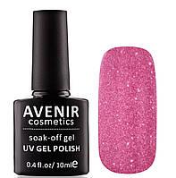 Гель-лак AVENIR Cosmetics №162. Сиреневые кристаллы, фото 1
