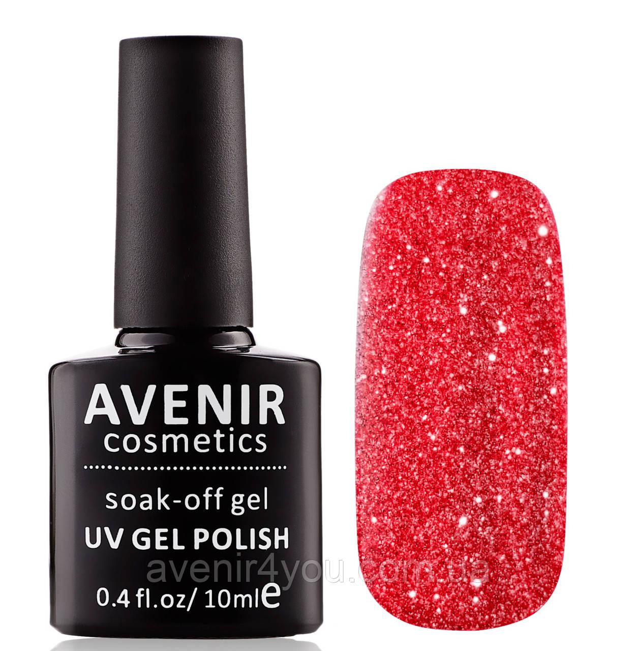 Гель-лак AVENIR Cosmetics №180. Червоні кристали