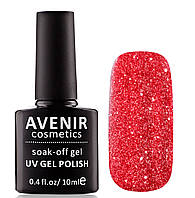Гель-лак AVENIR Cosmetics №180. Червоні кристали, фото 1