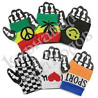 Напульсники на руку с пальцем цветные