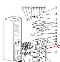 Панель ящика Indesit  C00283521 ( 482000049260 )
