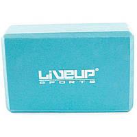 Блок для йоги LiveUp EVA Brick Синий