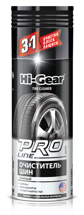 Очиститель шин Hi-Gear Advanced foam tire cleaner 340г (аэрозоль)