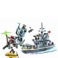 Конструктор BRICK 819 военный корабль 505 дет