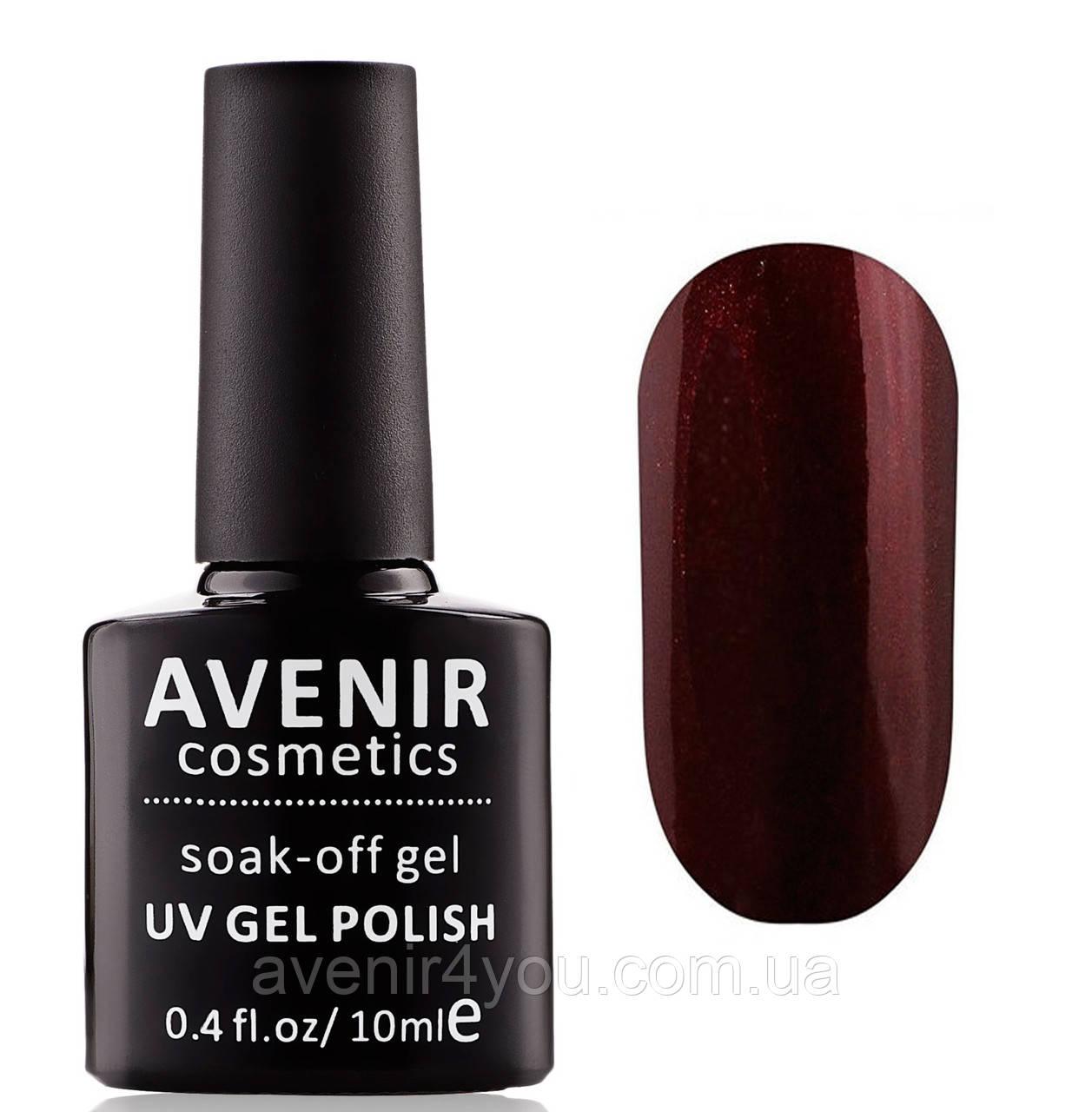 Гель-лак AVENIR Cosmetics №205. Темный марсала