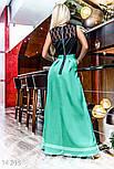 Изысканное вечернее платье с юбкой из габардина, фото 3