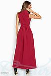 Летнее платье в пол с запáхом красное, фото 2
