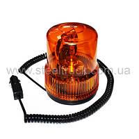 Маячок оранжевый на лампочке 24V с магнитным креплением