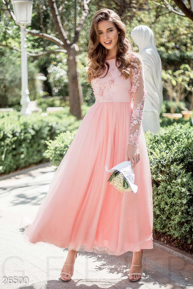 e8fbdf73239 Изумительное вечернее платье розового цвета  продажа